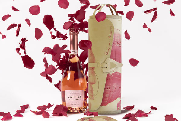 La Romantic: Champagne Cattier's Valentine's Day coffret blends wood and leather