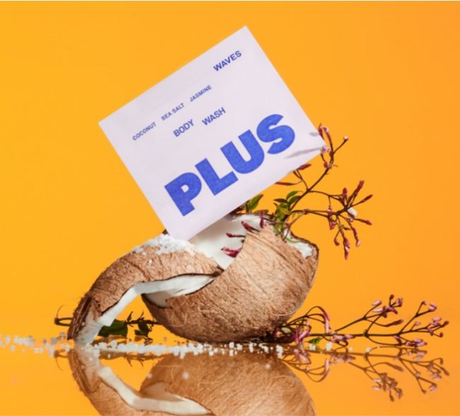Plus is a Waste-Free Body Wash That Comes In Dissolvable Packaging
